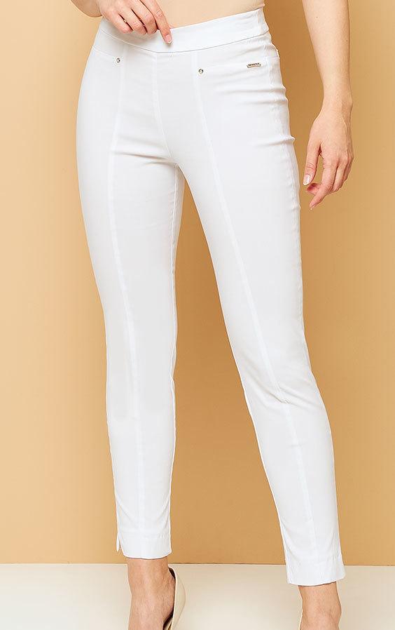 fd12ff158b Kaskada producent odzieży damskiej spodnie Iva białe